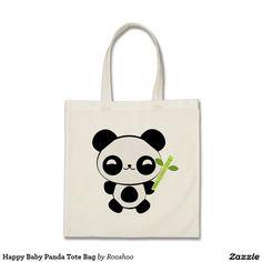 Happy Baby Panda Tote Bag