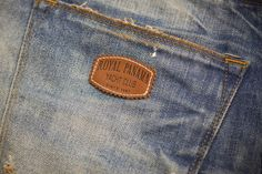 Hot printed leather patch made in Italy by Panama Trimmings #denim #details #vintage