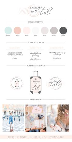 Pastel Brand Inspiration For Elizebeth Ellery // Branding, Photography and Website Design Corporate Design, Branding Design, Logo Design, Branding Kit, Brand Identity, Site Web Design, Blog Logo, Marca Personal, Brand Style Guide