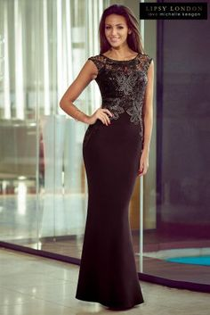 Buy Michelle Keegan Applique Sequin Maxi Dress from the Next UK online shop  Lipsy Prom Dresses 539377087950