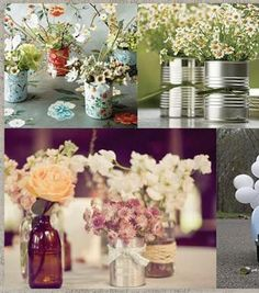 Tin cans, jars, bottles...who needs vases?!