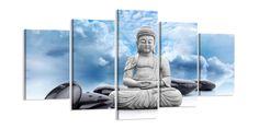 Precioso cuadro de 5 piezas medida total 200 cm de ancho 100 cm largo, enmarcado listo para colgar el envío GRATIS a toda la U.ETiempo de entrega 5-7