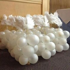 Angel balloon table topper