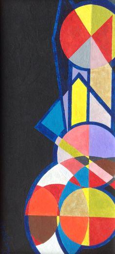 small geometry n. 7 by Jg Wilson  oil on cardboard