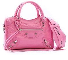Shop Balenciaga Mini City Classic Bag Pink and save up to EXPRESS international shipping! Balenciaga Mini City Bag, Pink Balenciaga, Leotard Fashion, Luxury Purses, Pink Fashion, Fashion Top, Classic Mini, Crossbody Bag, Shoulder Bag