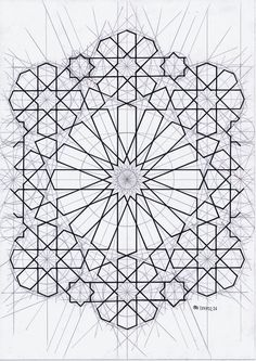 Finding A Career In Architecture - Drawing On Demand Geometric Patterns, Geometric Designs, Geometric Shapes, Islamic Art Pattern, Arabic Pattern, Pattern Art, Geometry Art, Sacred Geometry, Islamic Calligraphy