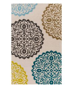 Look what I found on #zulily! Multicolor Venus Brooklyn Wool Rug #zulilyfinds