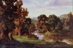 Old landscape paintings
