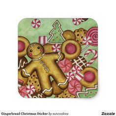 Gingerbread Christmas Sticker