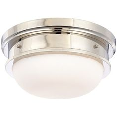 Hudson Valley Lighting HUD3322PN Classic Flush Mount Ceiling Light - Polished Nickel