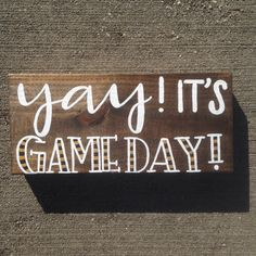 Game Day Hand Painted Sign, Hand Lettered Wood Sign for Home, Custom Team Colors Game Day Sign, Football Sign, Sports Sign, Team Sign by IvyandOrchid on Etsy