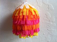 piñatas...I like the paper that was used.