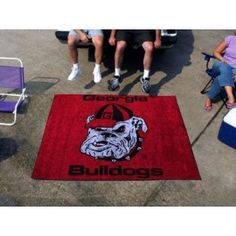 Georgia UGA Bulldogs Dawg Head 5x8 In/Out Door Ulti-Mat Tailgate Area Rug/Carpet