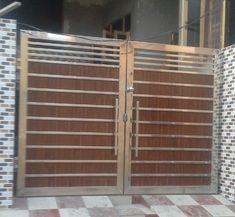 Steel Gate, स्टील गेट in Mithapur Road, Jalandhar , Batra Steels Modern Front Gate Design, Gate Wall Design, Gate Designs Modern, House Main Gates Design, Iron Gate Design, Railing Design, Wooden Gate Designs, Wooden Main Door Design, Stainless Steel Gate