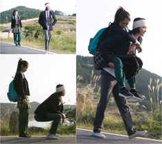 Country Bumpkin Lee Jong Seok Gives Park Shin Hye a Piggyback Ride For Pinocchio Goblin, Romance, Fantasy Posters, Best Dramas, Korean Dramas, Country Bumpkin, Korean Couple, Korean Wave, Park Shin Hye