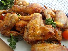 Marinovaná kuřecí stehýnka, křidýlka a paličky - Naše Dobroty na každý den Chicken Wings, Meat, Food, Eten, Meals, Diet