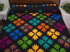 Bear Tracks Quilt -- outstanding meticulously made Amish Quilts from Lancaster (hs5335)