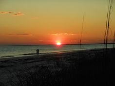 Sunset at Alligator Point, Florida. _ Florida's Forgotten Coast _ For vacation rentals in this area, visit www.facebook.com/debsrentals or www.alreadygonefishing.com.  #vacation #rental #travel