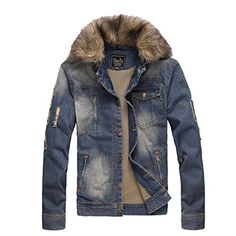 Partiss Mens Fur Collar Denim Coat,Medium,As picture Partiss http://www.amazon.com/dp/B00UWNK2LW/ref=cm_sw_r_pi_dp_T03cvb0CK8G83
