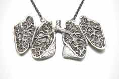 Anatomical Lung Locket - wish i could afford this for my mama!  she's a stage IV Lung cancer survivor for almost 4 years now!