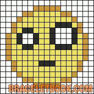 Smiley emoticon perler bead pattern