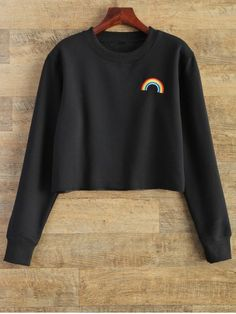 GET $50 NOW | Join RoseGal: Get YOUR $50 NOW!http://www.rosegal.com/sweatshirts-hoodies/raw-edge-rainbow-cropped-sweatshirt-872790.html?seid=7345709rg872790