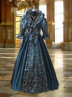 Renaissance Fairy Queen Dress in Ornament Taffeta, Handmade, Multiple Colors Available by YourDressmaker on Etsy https://www.etsy.com/listing/105216388/renaissance-fairy-queen-dress-in