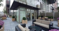 Kim Kardashian Kris Humphries Outdoor new homes has a huge private deck and a separate balcony.