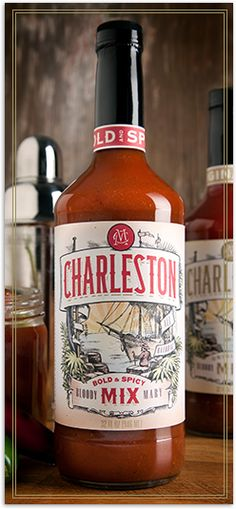Charleston Mix - Bold & Spicy Bloody Mary Mix that is horseradish free and certified all-natural.