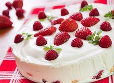 Блюда из клубники и творога, клубничный пирог