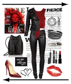"""""""Untitled #725"""" by gallant81 ❤ liked on Polyvore featuring Helmut Lang, Tom Ford, Christian Louboutin, Ice, Sif Jakobs Jewellery, VIPARO, MANGO, MAC Cosmetics, Christian Dior and Giorgio Armani"""