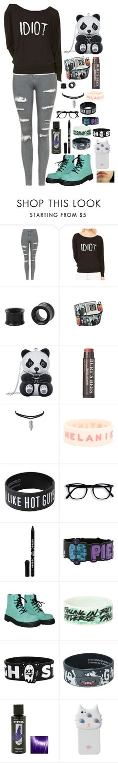 """""""Idiot cx"""" by hold-on-til-may ❤ liked on Polyvore featuring Topshop, Judith Leiber, Burt's Bees, Anna Sui, T.U.K. and Valfré"""