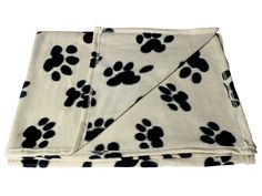 Large Fleece 60 x 39 Inch Pet Blanket with Paw Print Pattern - Animal Supplies by bogo Brands *** Check this awesome product by going to the link at the image. (This is an affiliate link) #DogBedsandFurniture