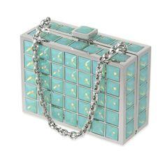 Judith Leiber Princess Box #clutches #blue #box