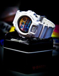 G-Shock DW6900NB-7JF Metallic White Ltd Edition Watch