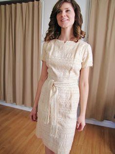Simple white eyelet dress