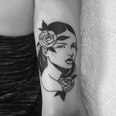 WEBSTA @ lmariera.tattoo - Always a pleasure to draw a rose n' lady  @olyangertattoo