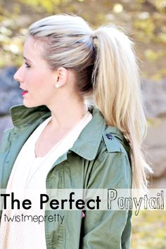 Perfect Ponytail - Twist Me Pretty The Perfect Ponytail. Make it longer and fuller without extensions! The Perfect Ponytail. Make it longer and fuller without extensions! Perfect Ponytail - Twist Me Pretty The Perfect Ponytail. Perfect Ponytail, Twist Ponytail, Twist Hair, Pin Up Hair, Love Hair, Pretty Hairstyles, Easy Hairstyles, Vintage Hairstyles, Wedding Hairstyles