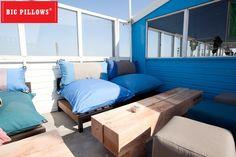 ZandZeeBar Terschelling nieuw terras 2013 By Big Pillows, Het ultieme buitengenieten! Decor, Furniture, Outdoor Decor, Sun Lounger, Outdoor Furniture, Home Decor, Pillows, Beach Life, Big Pillows
