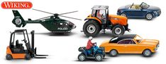 Wiking Vehicles in HO and N Scale for Model Trains