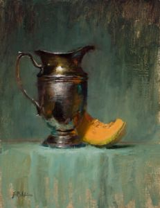 Elizabeth Robbins. Silver and Cantaloupe