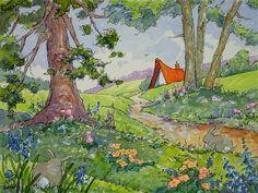 Dappled Munching Storybook Cottage Series