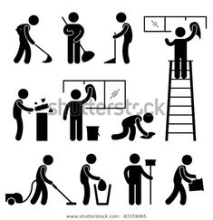 Find Man People Cleaning Washing Wiping Sweeping stock images in HD and millions of other royalty-free stock photos, illustrations and vectors in the Shutterstock collection. Paint Vector, Man Icon, Vintage Logo Design, Graphic Design, Stick Figures, Stock Foto, Free Vector Art, True Friends, Clip Art