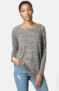 Topshop Long Sleeve Space Dye Top available at #Nordstrom