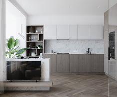 kitchen Kitchen Dining, Kitchen Cabinets, Closed Kitchen, Interior Architecture, Interior Design, Compact Living, Kitchen Interior, Cool Kitchens, New Homes