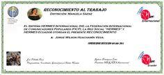 Reconocimientos 2014: Jorge Wilson Huachamín Vega  Distinción: Manuela Sáenz