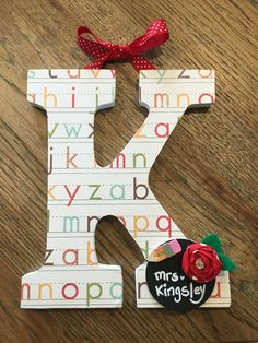 $20 personalized teacher letter https://www.facebook.com/pages/Jenna-Joyce-Designs/330908049450