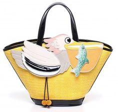Borse Braccialini collezione primavera estate 2014: i colori e i simboli della storia italiana  Braccialini shopping bag Bird 187.00 euro