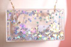 Darling I Know Glimmering Star Encrusted Clutch Bag