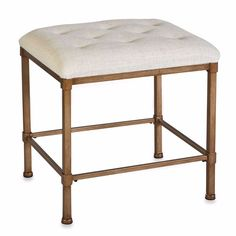 Bathroom Vanity Bench Seat Chair Stool Cushion Bedroom Tufted Fabric Bronze…